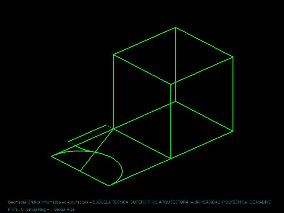 Geometría Gráfica Informática en Arquitectura – ESCUELA TÉCNICA SUPERIOR DE ARQUITECTURA – UNIVERSIDAD POLITÉCNICA DE MADRID Profs.: C. García Reig –