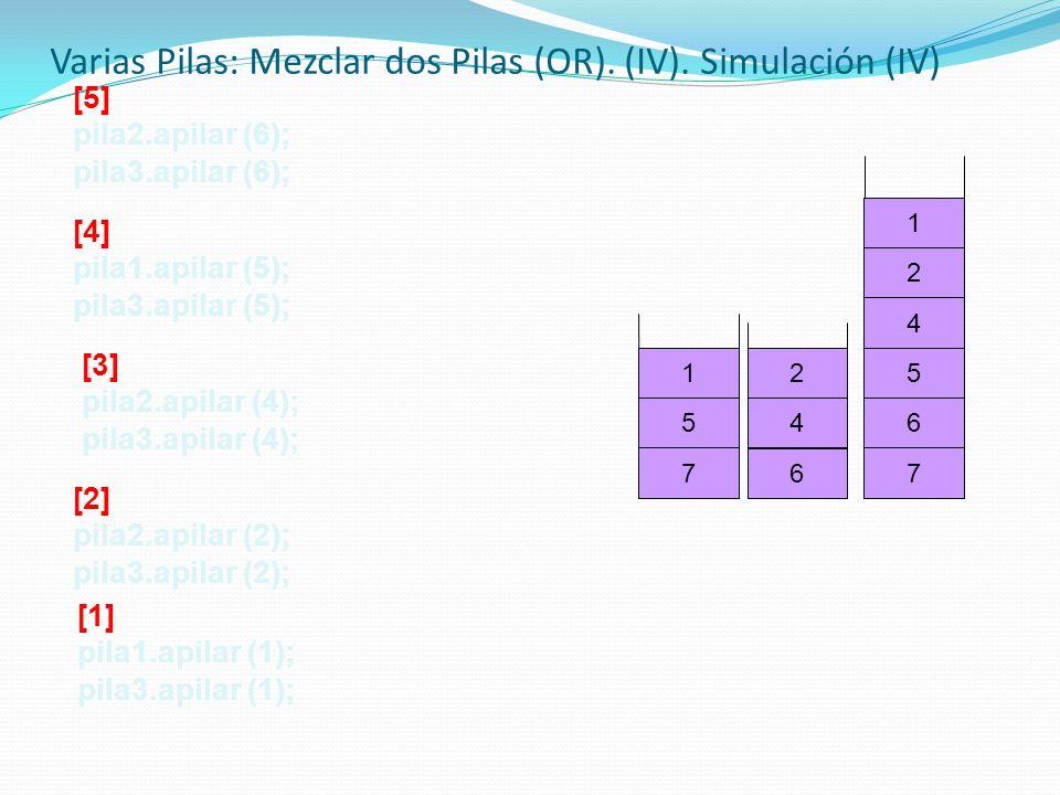 77 6 64 2 1 5 5 4 2 1 [5] pila2.apilar (6); pila3.apilar (6); [4] pila1.apilar (5); pila3.apilar (5); [3] pila2.apilar (4); pila3.apilar (4); [2] pila