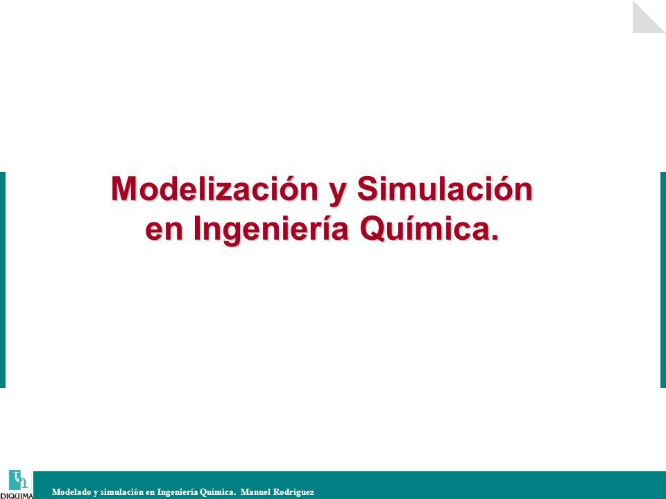 Modelado y simulación en Ingeniería Química. Manuel Rodríguez Modelización y Simulación en Ingeniería Química.