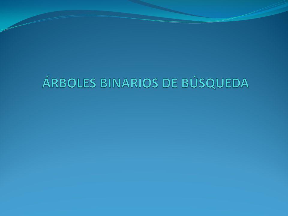 Árboles binarios de búsqueda (I).
