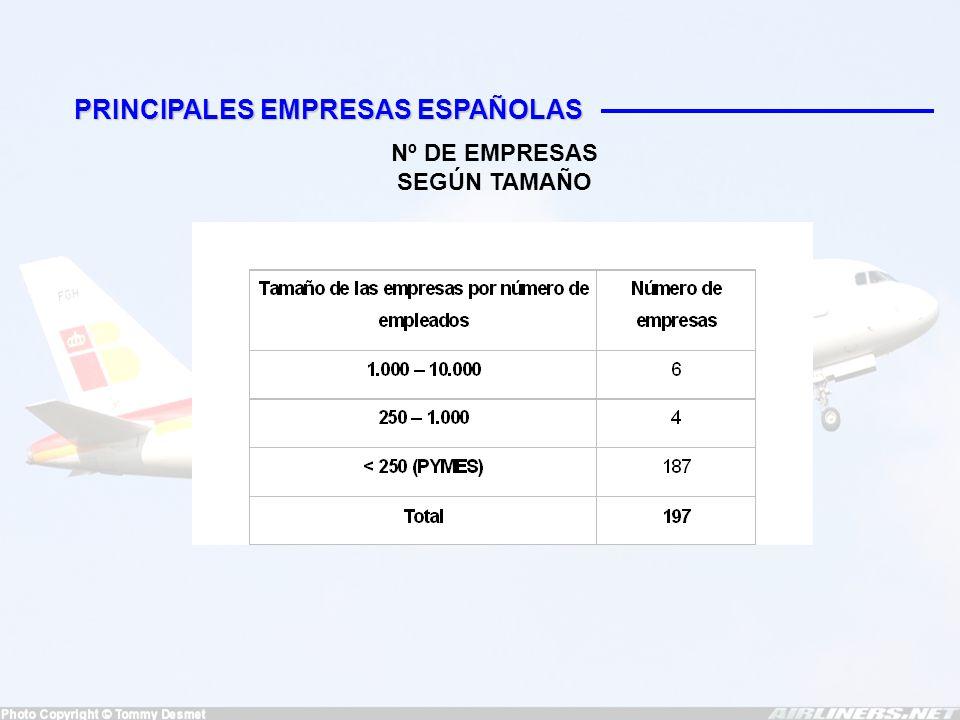INDRA Ingresó 987 millones de euros en 2003 6.385 trabajadores 7,2 % sobre ventas dedicado a I+D Tres áreas de actividad -Tecnologías de la información (76 % de los ingresos) -SIMSAM (2 %) -Equipos electrónicos de defensa (22 %) SENER 950 trabajadores en 2003 12 % sobre ventas dedicado a I+D Áreas de actividad -Mecanismos y electrónica -AOCSs -Otros (ingeniería y consultoría en comunicaciones)