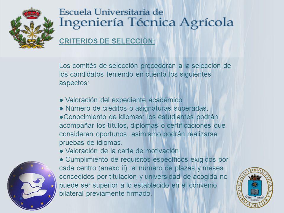 ITALIA: Universidad de Padua 3 plazas de 6 meses –Ciencias y Tecnología Agraria –Ciencia y Tecnología Alimentaria –Ciencia y Tecnología Vitícola y Enológica –Paisaje, Parques y Jardines –Protección y Ordenación del Territorio