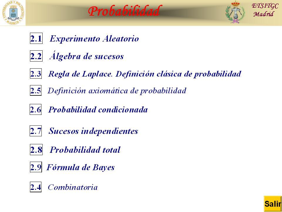 Contraste de Hipótesis Probabilidad ETSITGC Madrid
