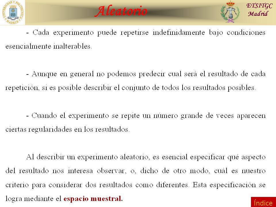 Contraste de Hipótesis Aleatorio ETSITGC Madrid Índice