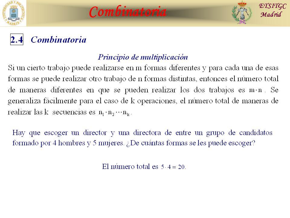 Contraste de Hipótesis Combinatoria ETSITGC Madrid