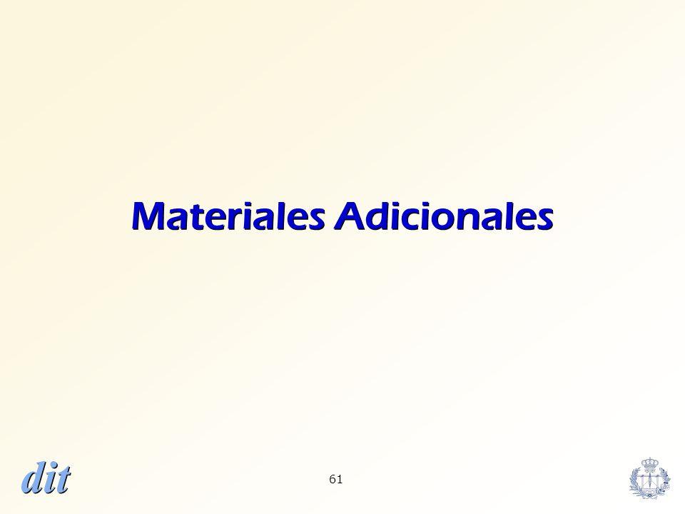 dit 61 Materiales Adicionales