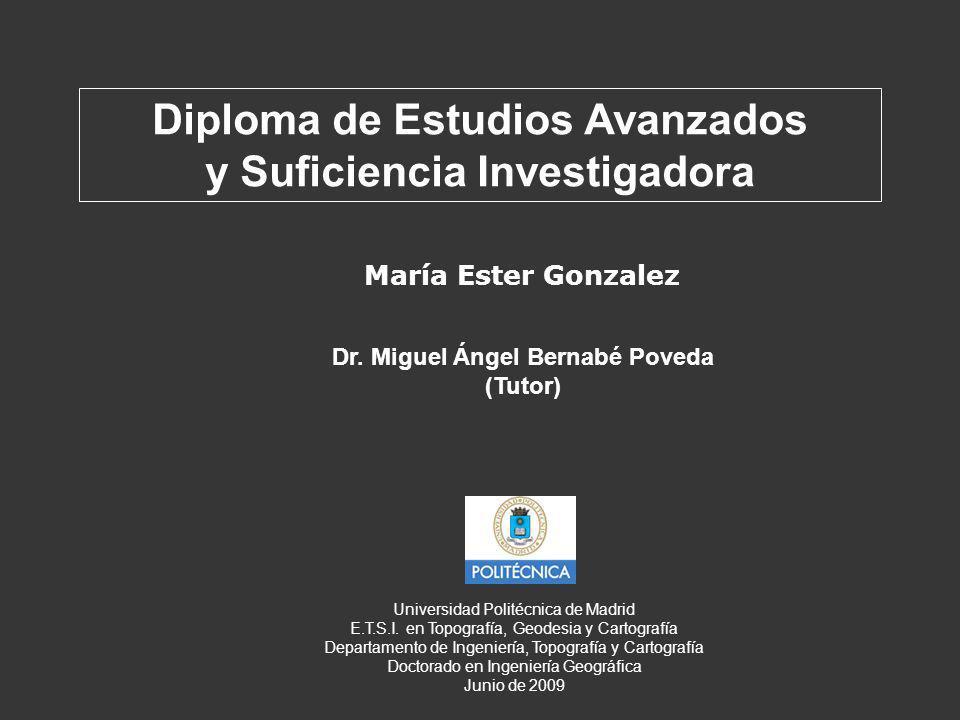 María Ester Gonzalez Diploma de Estudios Avanzados y Suficiencia Investigadora Dr.