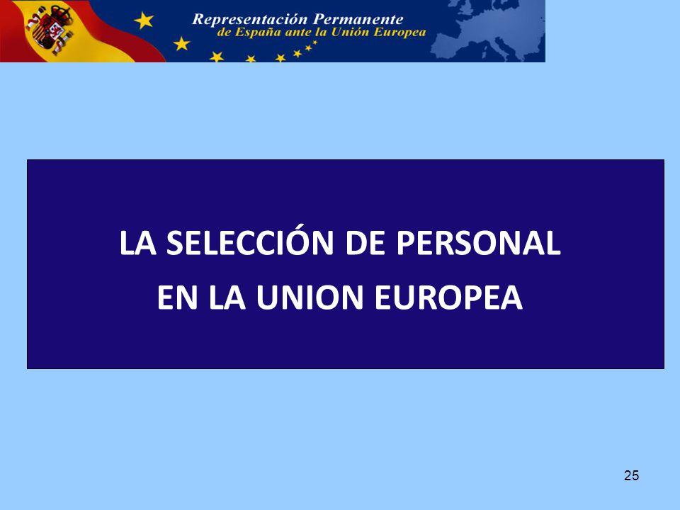 LA SELECCIÓN DE PERSONAL EN LA UNION EUROPEA 25