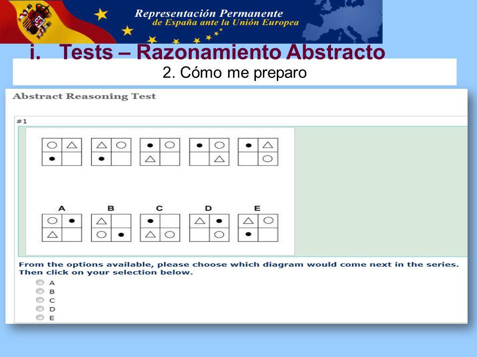 2. Cómo me preparo i.Tests – Razonamiento Abstracto