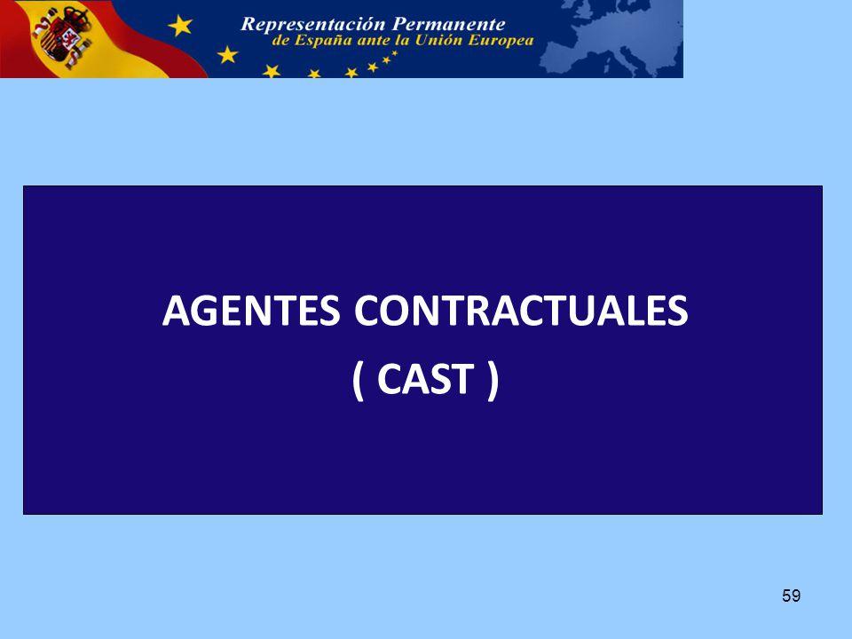 AGENTES CONTRACTUALES ( CAST ) 59