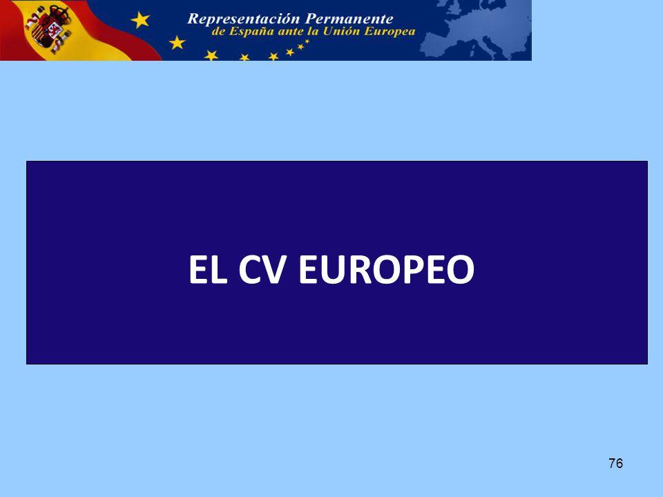EL CV EUROPEO 76