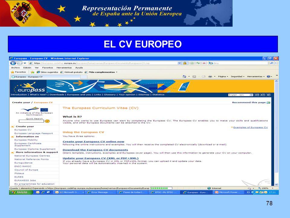 78 EL CV EUROPEO