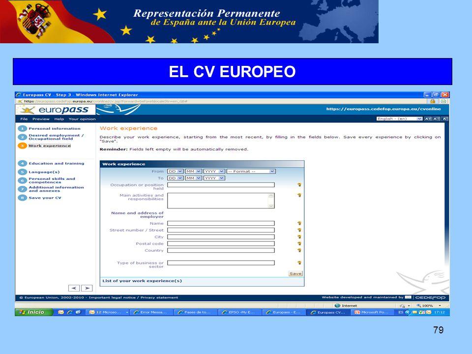 79 EL CV EUROPEO
