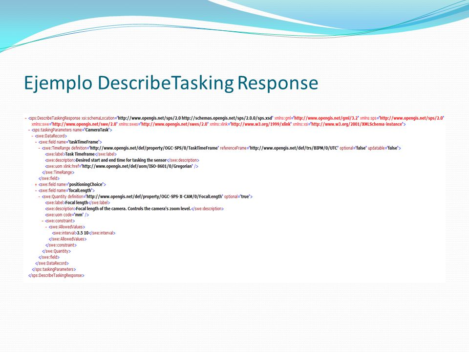 Ejemplo DescribeTasking Response