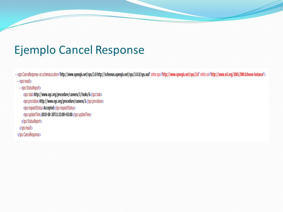 Ejemplo Cancel Response