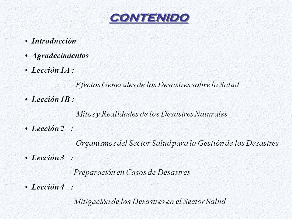 Con la ultima publicación de la organización panamericana de la salud, Los Desastres Naturales y la Protección de la Salud.