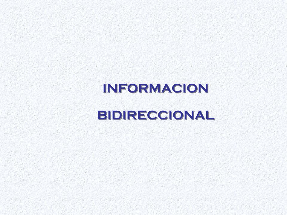 INFORMACION BIDIRECCIONAL