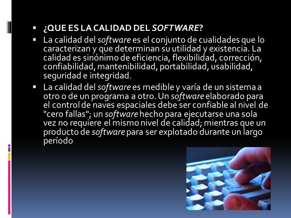 La calidad del software a nivel de empresa se refiere a las acciones que se tomas de forma común para asegurar que se desarrolla software de calidad en todos los proyectos.