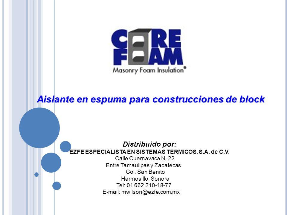 Distribuido por: EZFE ESPECIALISTA EN SISTEMAS TERMICOS, S.A.