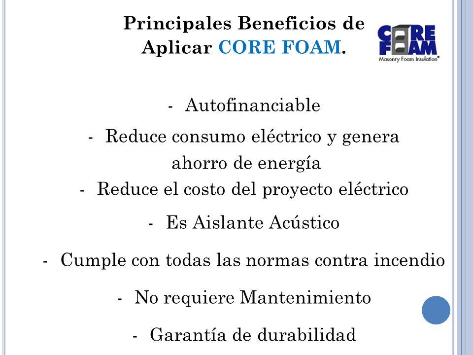 Principales Beneficios de Aplicar CORE FOAM.