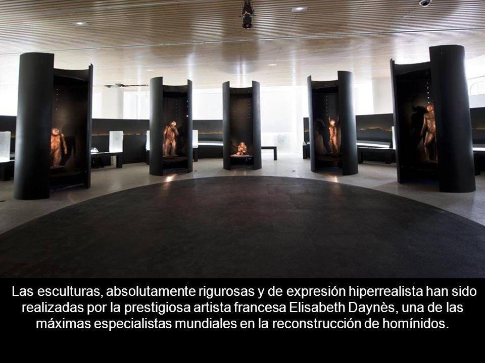 Uno de puntos más espectaculares del museo: 10 hiperrealistas reproducciones de antepasados del ser humano. Las diez reproducciones expuestas correspo