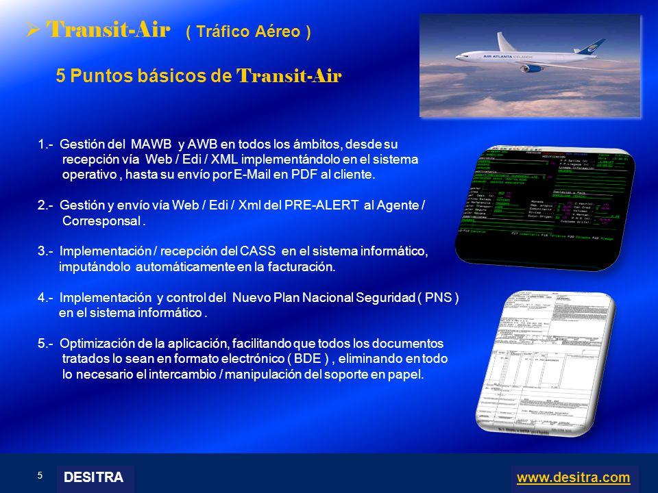 5 | Enterprise Resource Planning Systems, 04.03.10 Transit-Air ( Tráfico Aéreo ) 5 Puntos básicos de Transit-Air 1.- Gestión del MAWB y AWB en todos l