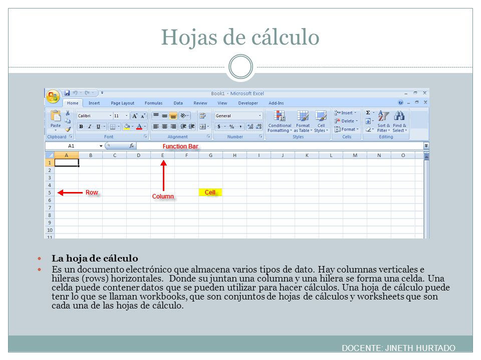 MANUALES http://www.fgcu.edu/support/office2007/Excel/d ata.asp http://www.fgcu.edu/support/office2007/Excel/d ata.asp DOCENTE: JINETH HURTADO