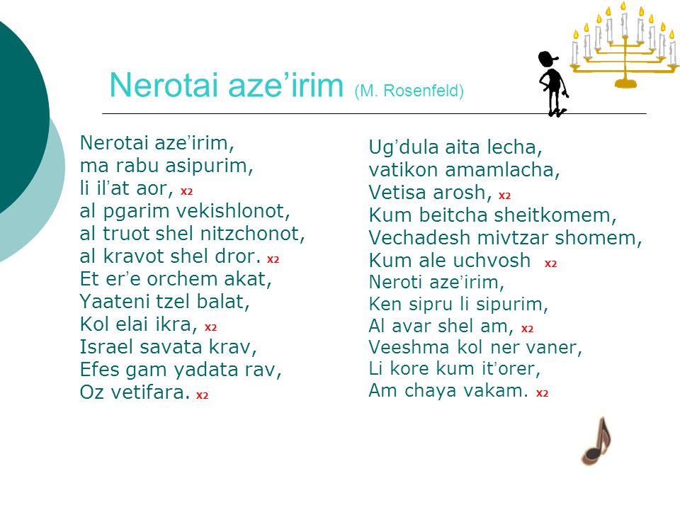 Simu shemen (L. Kipnis) Simu shemen, shemen zayit, Nerot hadliku, Yehi or babait.