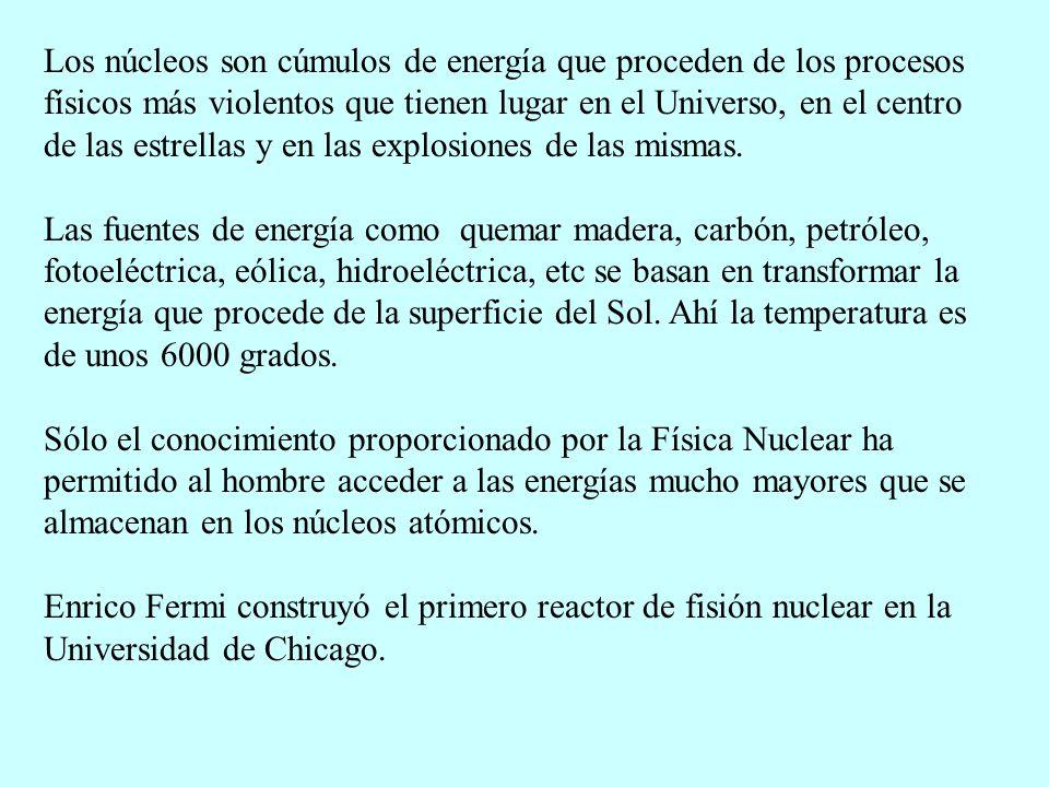 Los núcleos son cúmulos de energía que proceden de los procesos físicos más violentos que tienen lugar en el Universo, en el centro de las estrellas y