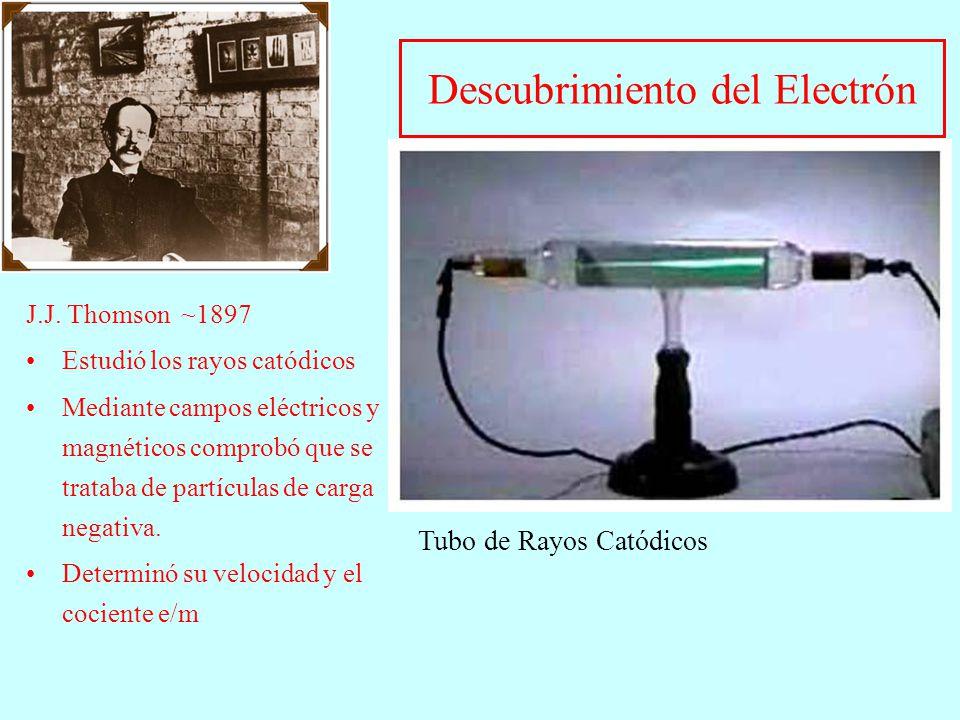 Descubrimiento del Electrón J.J.