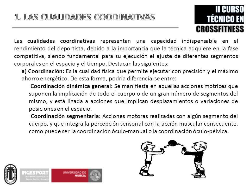 Las cualidades coordinativas representan una capacidad indispensable en el rendimiento del deportista, debido a la importancia que la técnica adquier