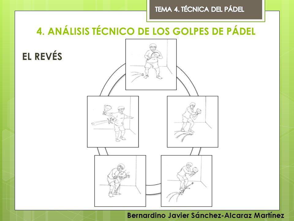 4. ANÁLISIS TÉCNICO DE LOS GOLPES DE PÁDEL EL REVÉS Bernardino Javier Sánchez-Alcaraz Martínez