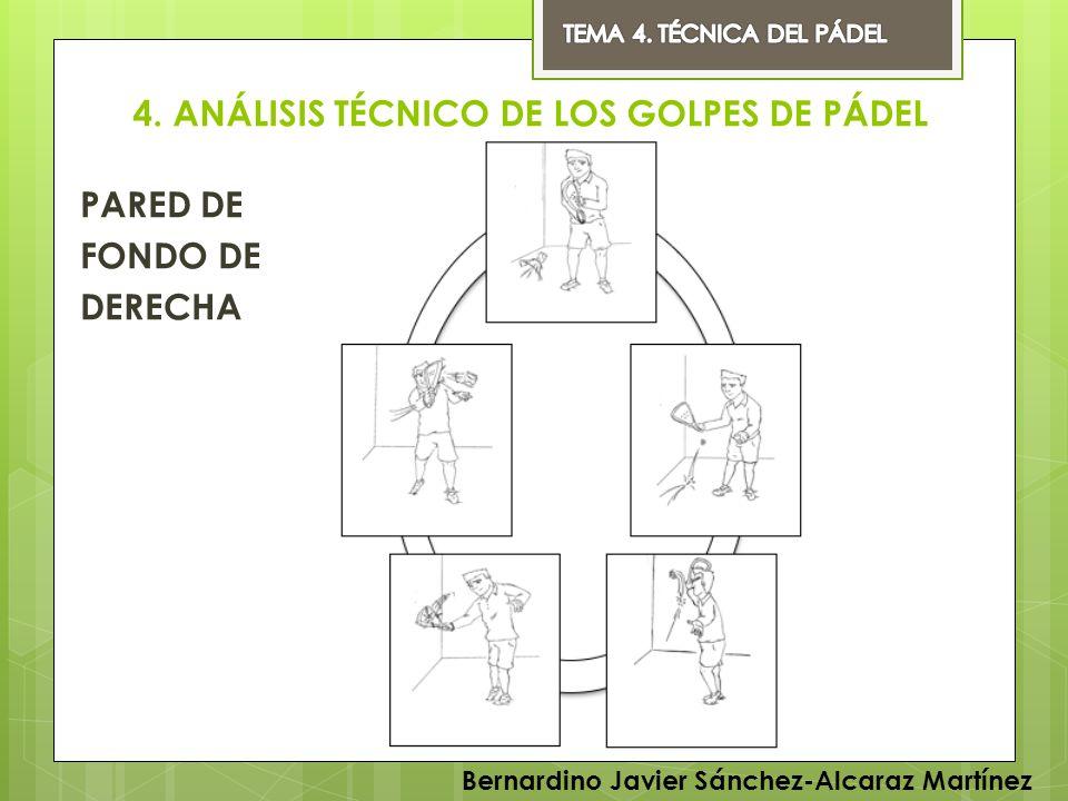 4. ANÁLISIS TÉCNICO DE LOS GOLPES DE PÁDEL PARED DE FONDO DE DERECHA Bernardino Javier Sánchez-Alcaraz Martínez