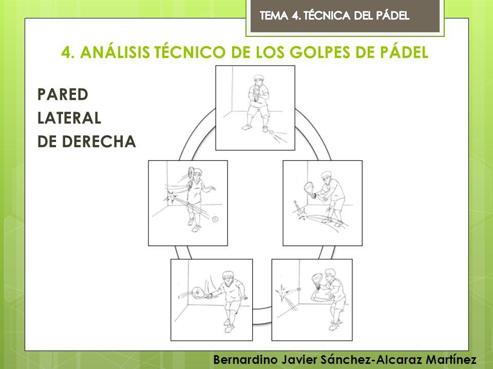4. ANÁLISIS TÉCNICO DE LOS GOLPES DE PÁDEL PARED LATERAL DE DERECHA Bernardino Javier Sánchez-Alcaraz Martínez