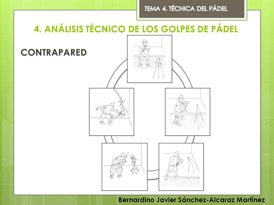 4. ANÁLISIS TÉCNICO DE LOS GOLPES DE PÁDEL CONTRAPARED Bernardino Javier Sánchez-Alcaraz Martínez