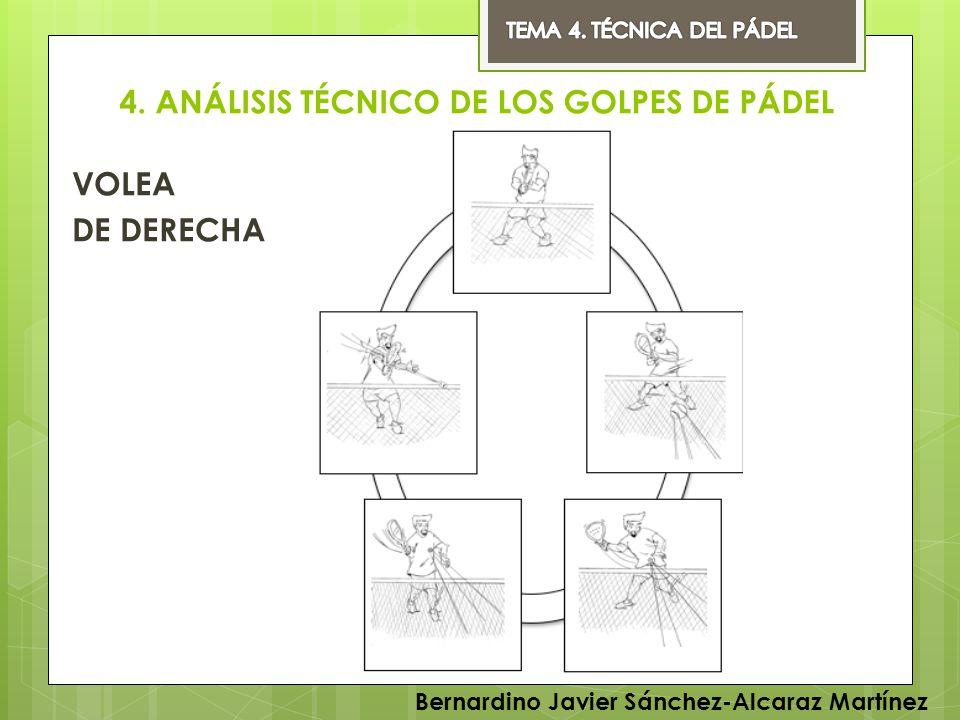 4. ANÁLISIS TÉCNICO DE LOS GOLPES DE PÁDEL VOLEA DE DERECHA Bernardino Javier Sánchez-Alcaraz Martínez