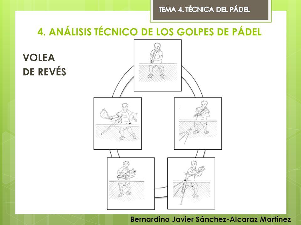 4. ANÁLISIS TÉCNICO DE LOS GOLPES DE PÁDEL VOLEA DE REVÉS Bernardino Javier Sánchez-Alcaraz Martínez