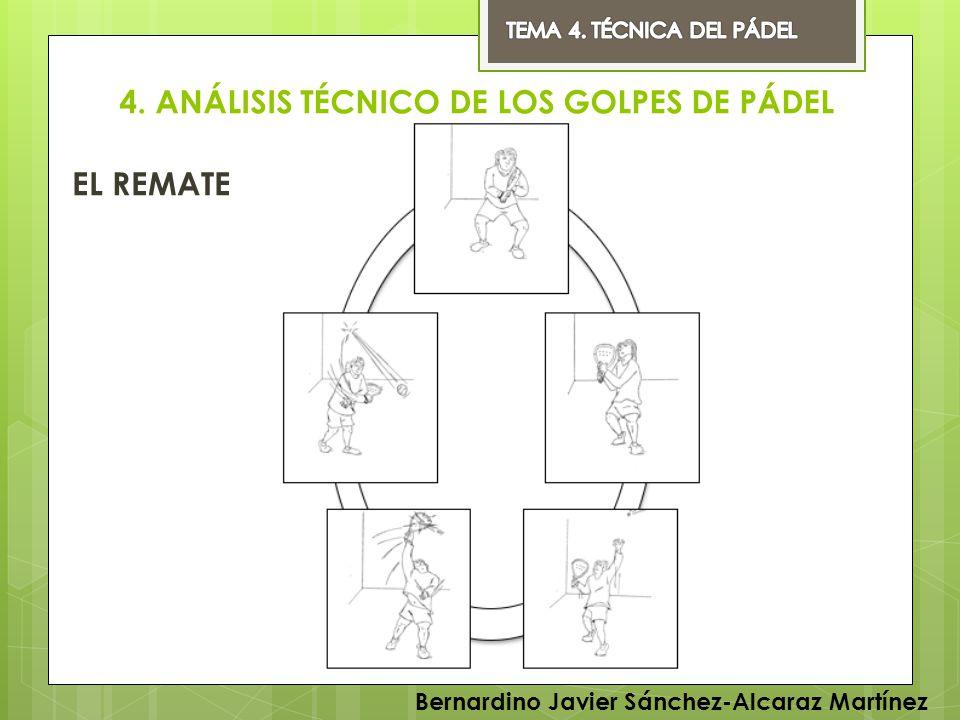 4. ANÁLISIS TÉCNICO DE LOS GOLPES DE PÁDEL EL REMATE Bernardino Javier Sánchez-Alcaraz Martínez