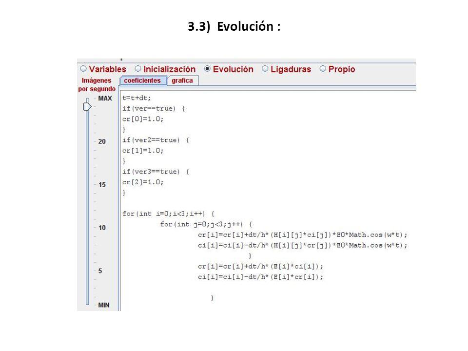 3.3) Evolución :