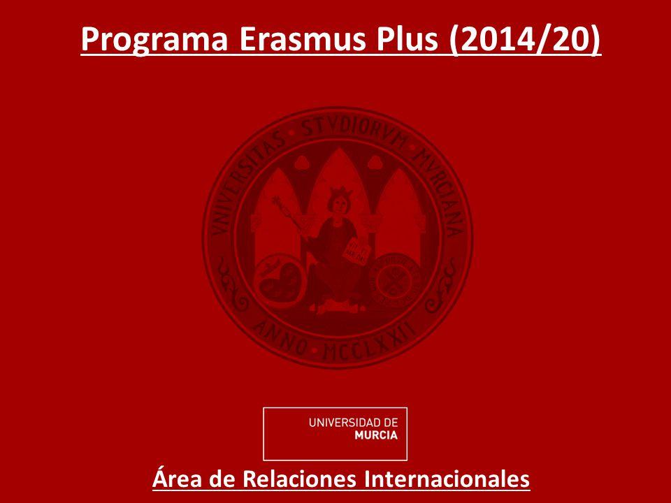 CONVOCATORIA ERASMUS PLUS ESTUDIOS 2014/15 Ayuda Económica: 2013/14 vs.