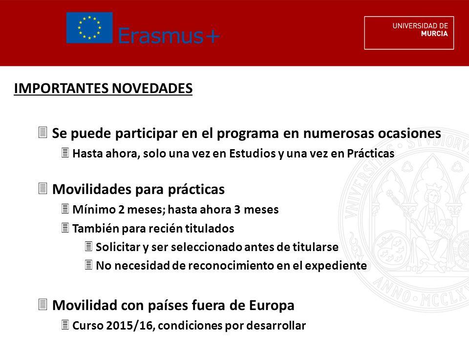 CONVOCATORIA ERASMUS PLUS ESTUDIOS 2014/15 Ayuda económica definitiva 3Esperamos tener datos a finales de julio 3Tipo de beneficiario (MECD vs.