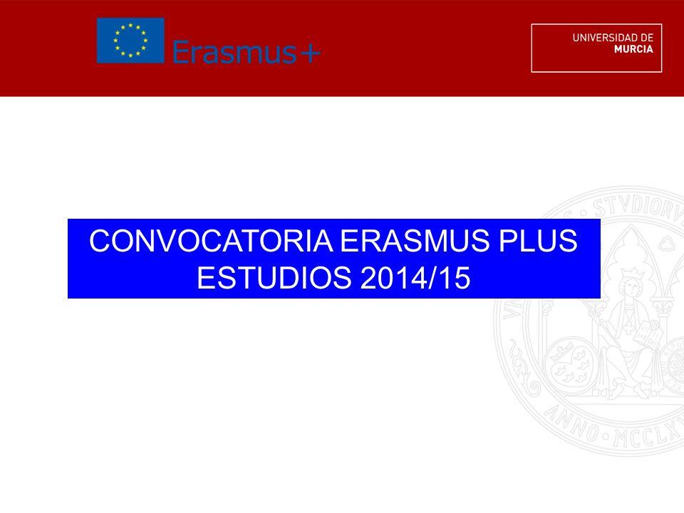 Requisitos 3Matrícula UMU 3Curso 2013/14 (solicitud) y 2014/15 (estancia) 3Académicos 3En sept.