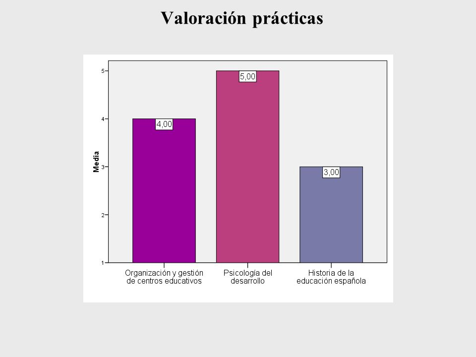 Valoración prácticas