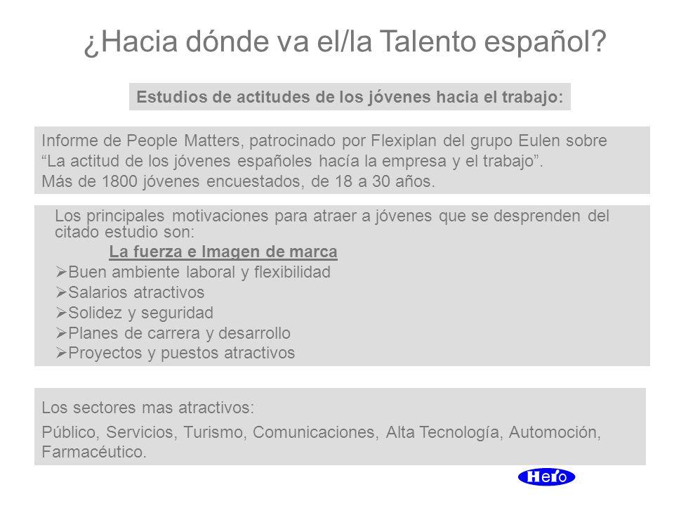 ¿Hacia dónde va el/la Talento español? Estudios de actitudes de los jóvenes hacia el trabajo: Informe de People Matters, patrocinado por Flexiplan del