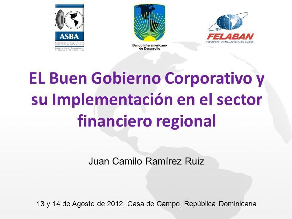 Juan Camilo Ramírez Ruiz EL Buen Gobierno Corporativo y su Implementación en el sector financiero regional 13 y 14 de Agosto de 2012, Casa de Campo, R