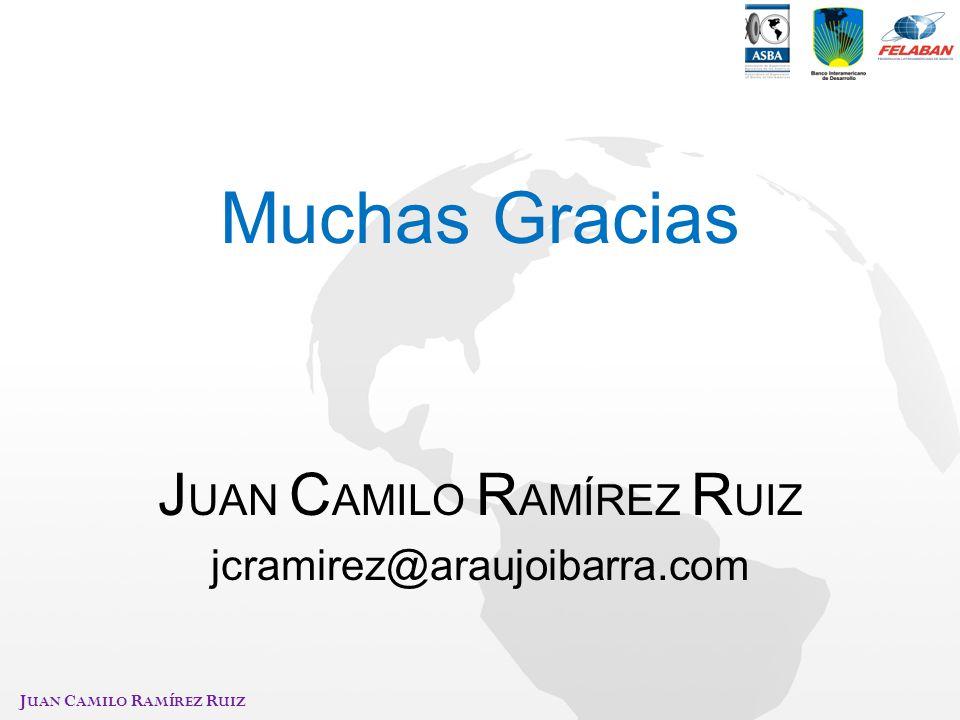 J UAN C AMILO R AMÍREZ R UIZ Muchas Gracias J UAN C AMILO R AMÍREZ R UIZ jcramirez@araujoibarra.com