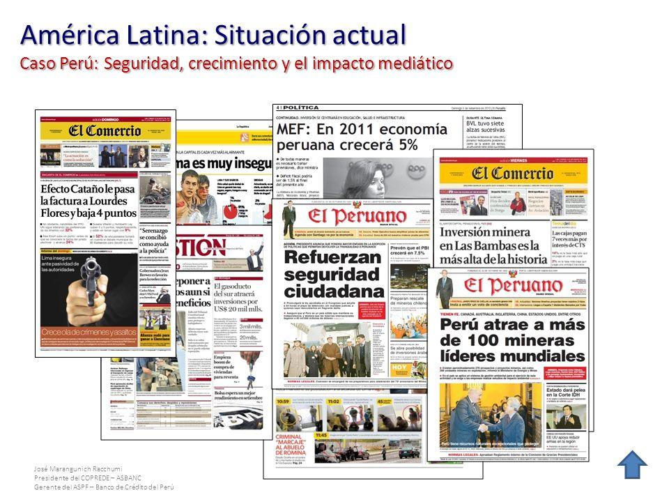 José Marangunich Racchumi Presidente del COPREDE – ASBANC Gerente del ASPF – Banco de Crédito del Perú América Latina: Situación actual Caso Perú: Seg