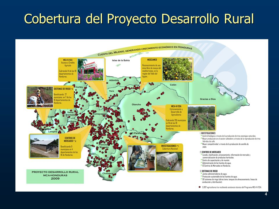 4 Cobertura del Proyecto Desarrollo Rural