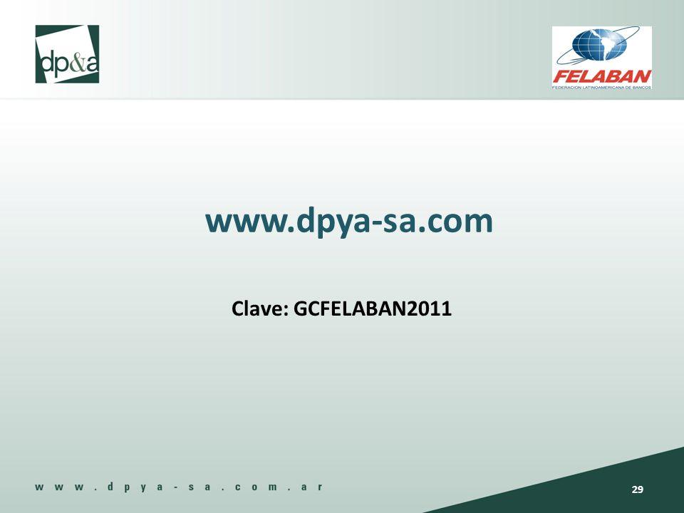 www.dpya-sa.com Clave: GCFELABAN2011 29