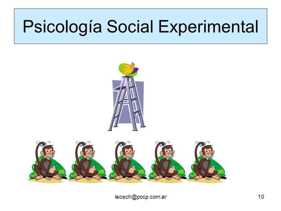 leosch@pccp.com.ar10 Psicología Social Experimental